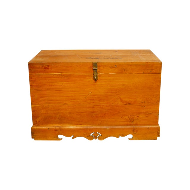 British Colonial Teak Travel Trunk/Chest - Image 1 of 9