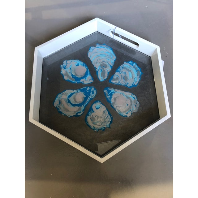 Abstract Oyster Tray by Blue Moon Art For Sale - Image 3 of 3