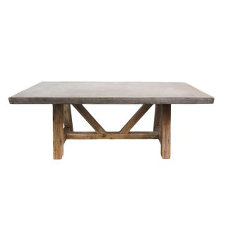 Modern Outdoor Cement Dining Table For Sale
