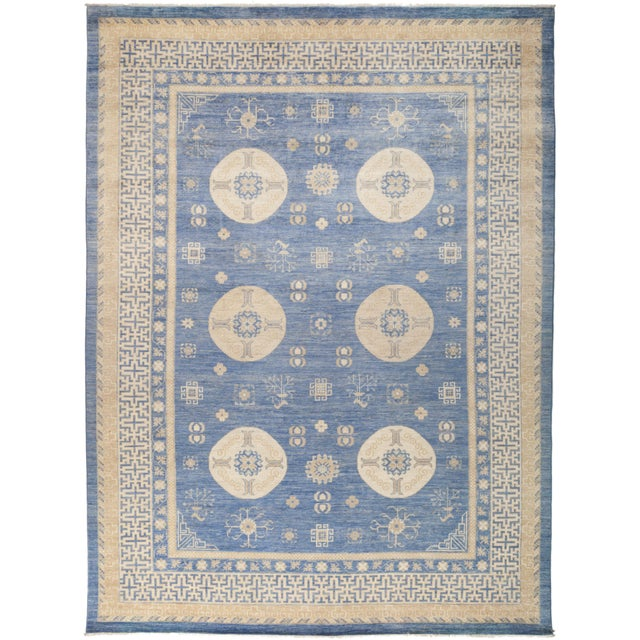 "Khotan Hand Knotted Area Rug - 9' 10"" X 13' 2"" - Image 4 of 4"