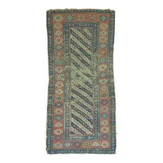 Distressed Caucasian Runner, 3'7'' X 7'10'' For Sale