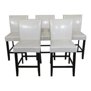 Modern High Seat Bar Stool Chairs- Set of 5 For Sale