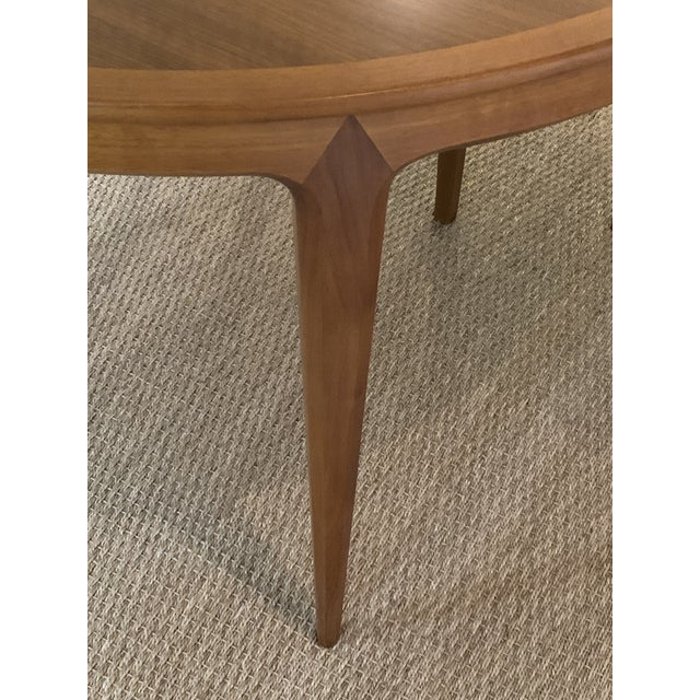 1960s Vintage Swedish Walnut Dining Table by B. Fridhagen for Bodafors For Sale - Image 5 of 13