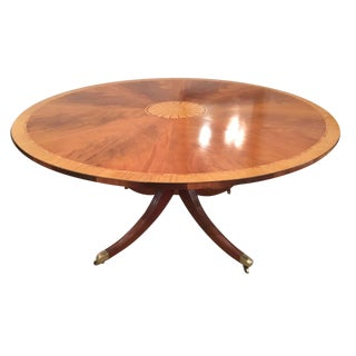 English Regency Round Dining/Center Table C. 1930 For Sale
