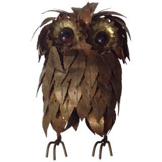 Morris 'Moshe' Katz Owl Sculpture For Sale