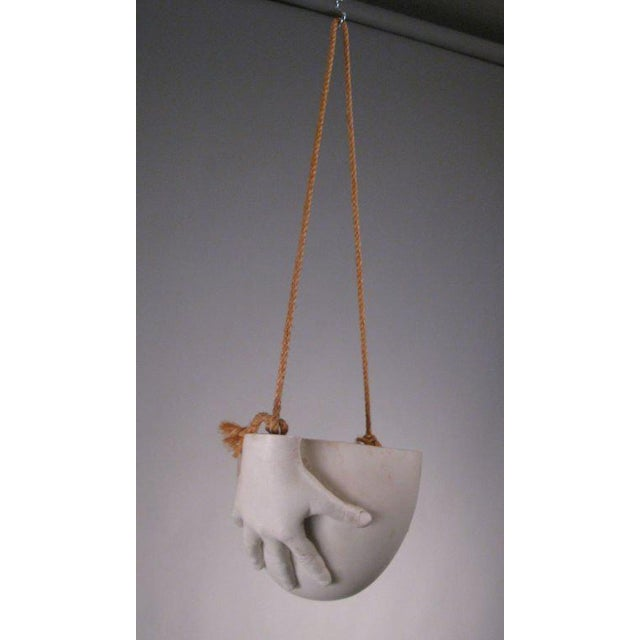 """Mid-Century Modern 1970s Ceramic """"Hands"""" Hanging Bowl by Richard Etts For Sale - Image 3 of 8"""