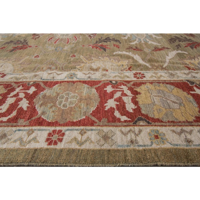 "Textile Wool Sultanabad Rug - 8' x 10'3"" For Sale - Image 7 of 9"