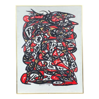 Original Abstract Street Art Painting by Richmond Shepard (1929-2019) For Sale