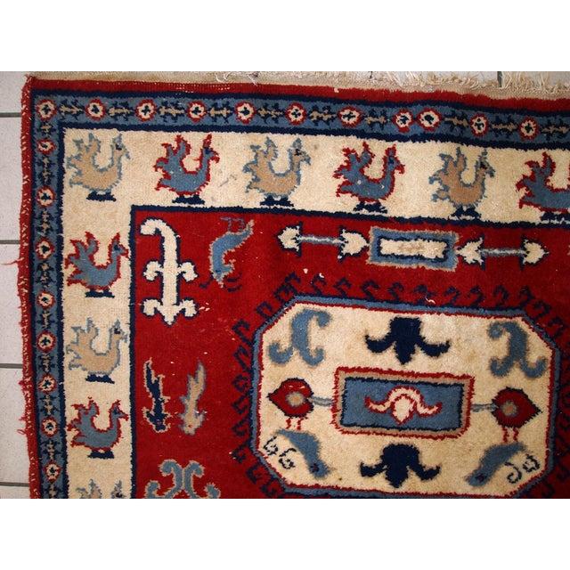 1970s Vintage Caucasian Kazak Rug - 4′ × 6′ - Image 2 of 10