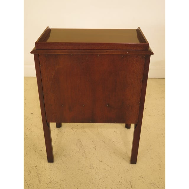 1990s Vintage Drexel Chippendale Style Mahogany Nightstands - A Pair For Sale - Image 9 of 12