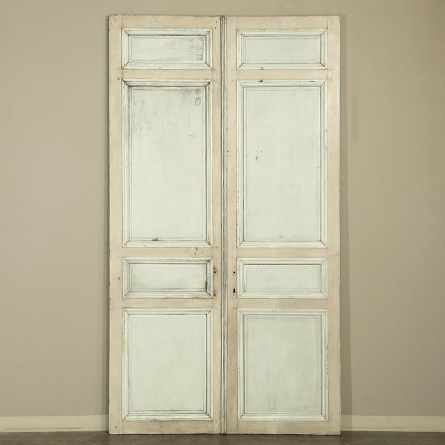 Pair 19th Century French Hand Painted Paneled Interior Doors For Sale - Image 11 of 13