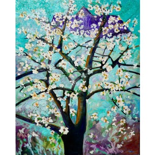 Apple Tree - Monumental Oil Painting For Sale