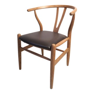Vintage Modern Wegner Style Wishbone Chair For Sale