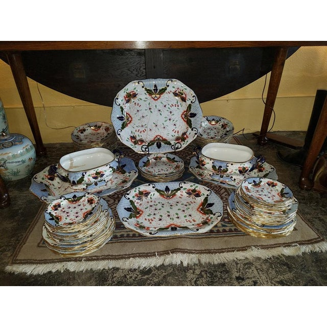 PRESENTING an EXTREMELY LARGE Early 19C Davenport Longport Imari China Dinner Service from circa 1810 - 1820. HIGH REGENCY...