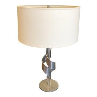 Hubbardton Forge Flux Lamp in Vintage Platinum For Sale