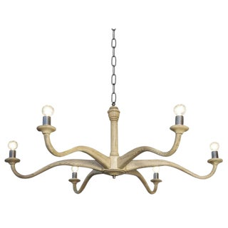 White Oak Wave Chandelier For Sale