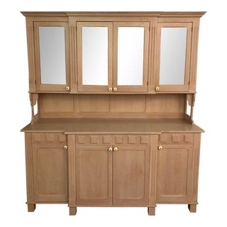 French Country Solid White Oak Sideboard/Credenza For Sale