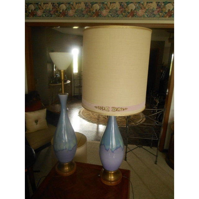 Mid Century Modern Volcano Drip Table Lamps - Pair - Image 5 of 9