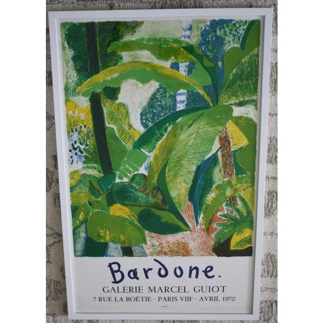 This vintage Guy Bardone at gallery Marcel Guiot in Paris, 1970 exhibition poster has amazing color and displays...