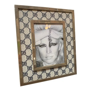 1970s Gucci Vintage Monogram Picture Frame, Italy For Sale
