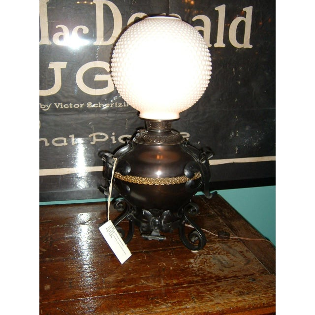 Arts & Crafts Electrified Oil Lamp - Image 2 of 5