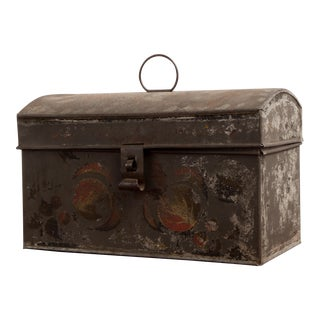 Early 20th Century Painted Metal Box