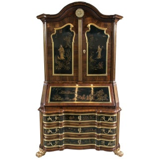 19th-C. Chinoiserie Secretary