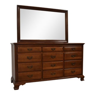 Solid Cherry Taylor Link Dresser and Mirror