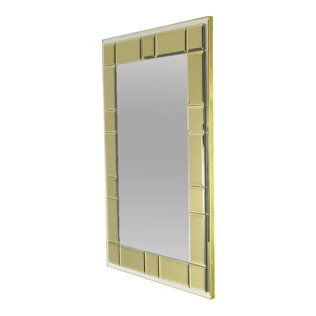 Striking Labarge Wall Mirror with Beveled Smoked Glass Mosaic Border - Image 1 of 5