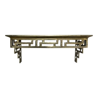 Solid Brass Greek Key Wall Shelf Bracket For Sale