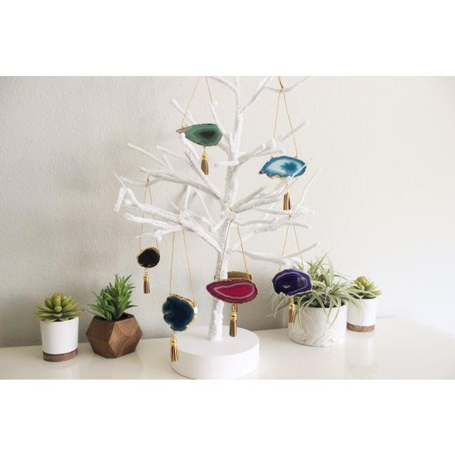 Modern Boho Agate Holiday Ornaments - Set of 7 - Image 4 of 11