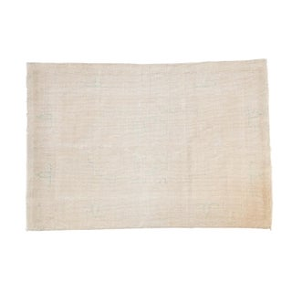 """Distressed Oushak Rug - 4'2"""" X 6'1"""" For Sale"""