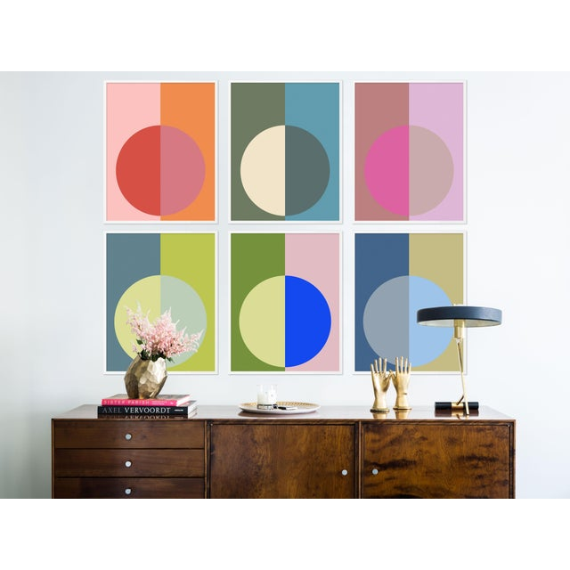 Hot Forevers Set of 6 by Stephanie Henderson in White Frame, Medium Art Print Stephanie Henderson paints with bold color...