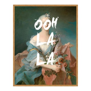Ooh La La by Lara Fowler in Gold Framed Paper, Large Art Print For Sale