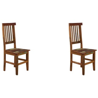 Reclaimed Peroba Rosa Wood Mineira Chair - A Pair