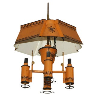 Early 20th Century Tole Chandelier For Sale