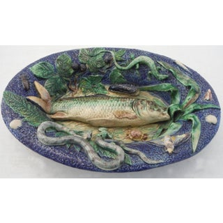 19th Majolica School of Paris Palissy Fish Wall Platter Preview