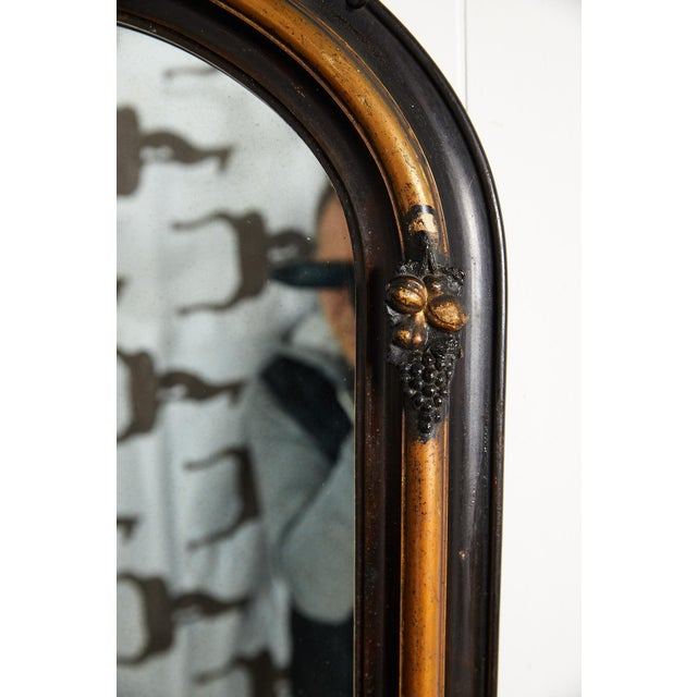 French Ebonized and Gilded Wall Mirror, Circa 1900 For Sale - Image 4 of 11