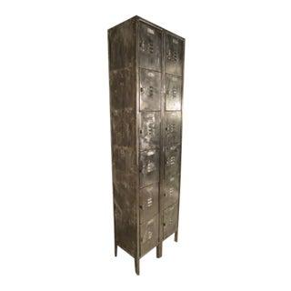 Vintage Industrial Factory Locker Unit For Sale