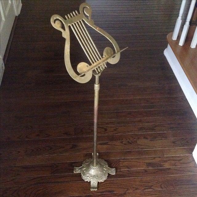 vintage brass music stand chairish. Black Bedroom Furniture Sets. Home Design Ideas