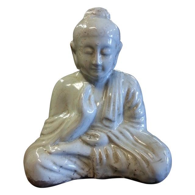 Sitting Buddha Statue With Ivory Finish - Image 1 of 7
