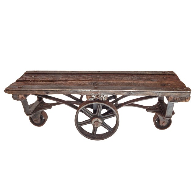 Industrial Trolley Table For Sale In New York - Image 6 of 9
