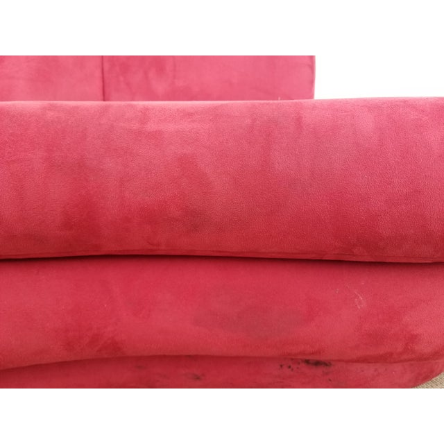 1980s Mid-Century Modern Adrian Pearsall for Comfort Red Curved Sofa For Sale - Image 9 of 12