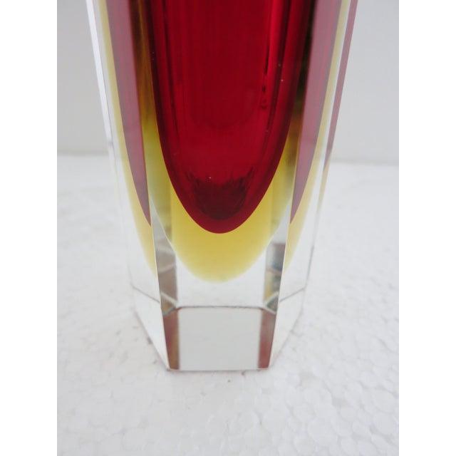 Alessandro Mandruzzato Italian Murano Glass Sommerso Vase by Mandruzzato For Sale - Image 4 of 5