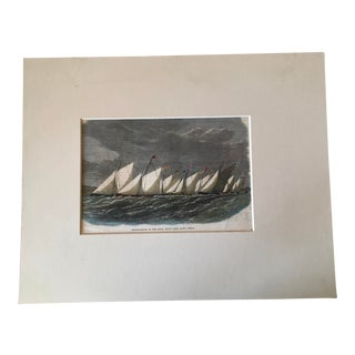 Sailing Match of the Natal Yacht Club, South Africa Print Circa 1900's For Sale
