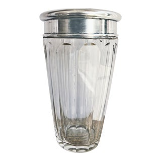 Antique Tiffany & Co. Sterling Silver and Crystal Cocktail Shaker For Sale