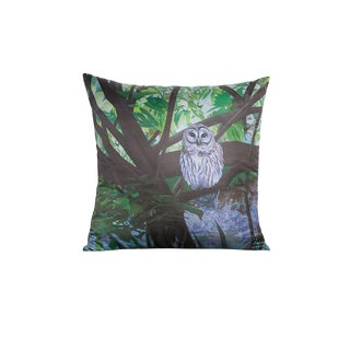 Silk Owl Pillow For Sale