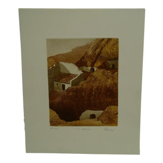 """Perry Macon Oliver Limited Edition """"Y Guadix"""" Signed Numbered (Vi/X) Print Artists Proof"""