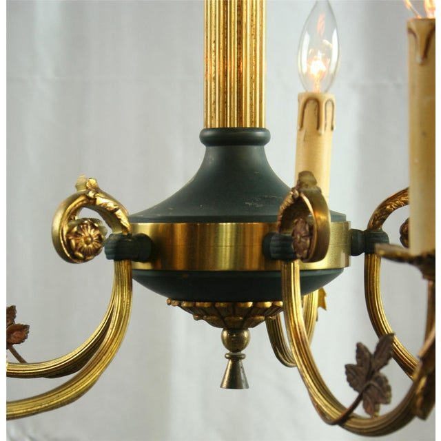 Vintage French Empire Chandelier Circa 1950 - Image 5 of 8