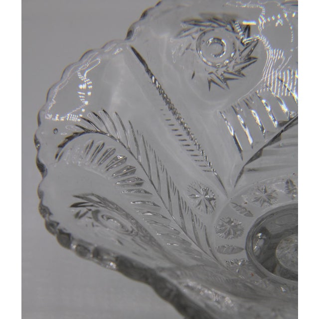 Mid-Century French Crystal Cut Glass Compote For Sale - Image 11 of 13